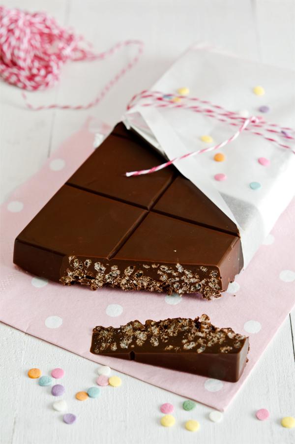 Turrón de chocolate en 5 minutos, paso a paso