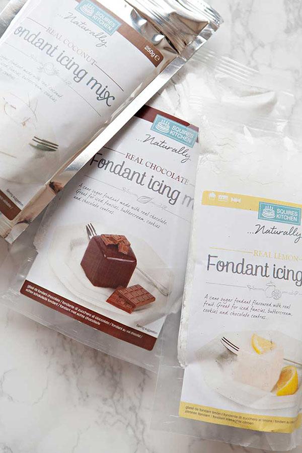 Fondant icing mix: Preparado instantáneo para glaseado