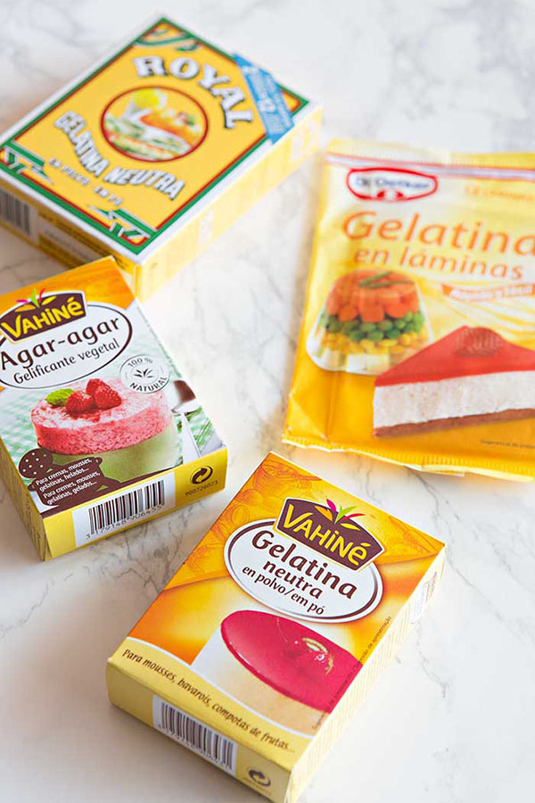 Tipos de gelatina: usos y formatos
