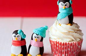 Cómo hacer pingüinos de Navidad con fondant