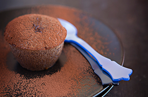Coulant de chocolate con corazón de toffee