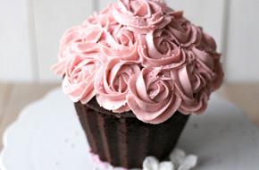 Cupcake gigante de chocolate