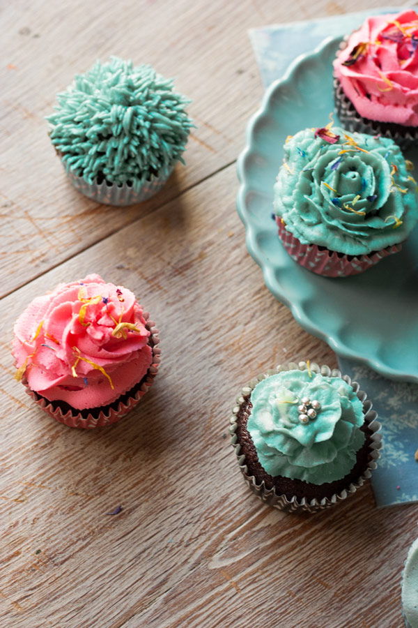 petalos cupcakes
