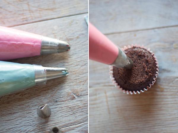 formas rosas cupcakes