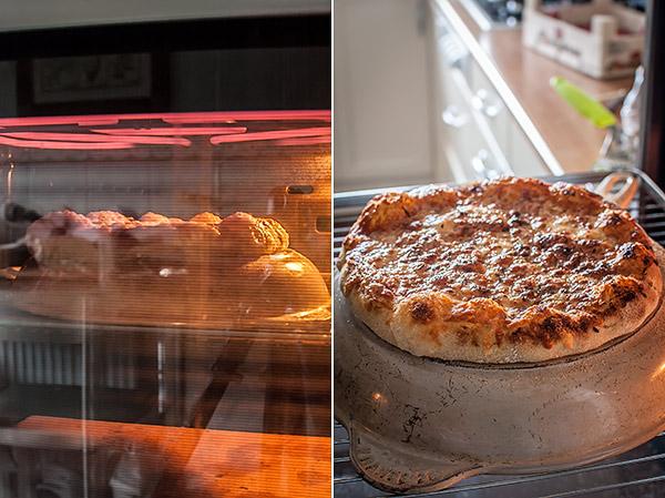 Pizza en el grill