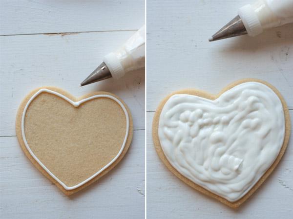 rellenado galletas glasa