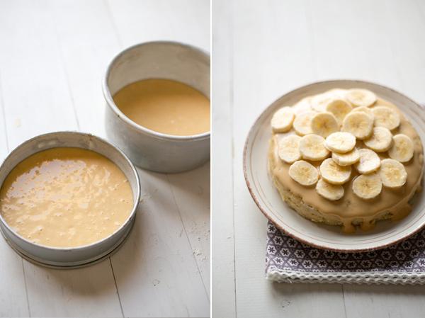 tarta plátano