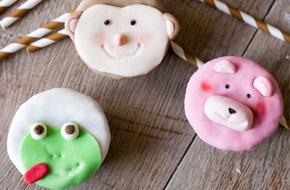 Cómo hacer muñecos de fondant para cupcakes: mono, oso y rana