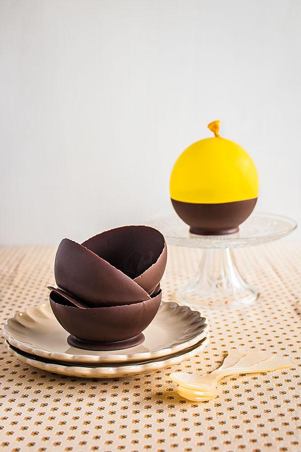 boles de chocolate