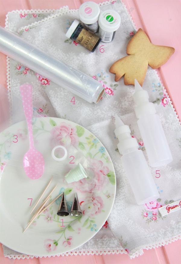 Galletas decoradas: Materiales necesarios y técnica ''húmedo sobre húmedo''