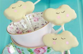 Cómo hacer cake pops con forma de nube