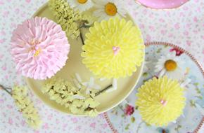 Cómo hacer cupcakes crisantemos