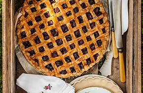 Tarta de cerezas. Receta de cherry pie