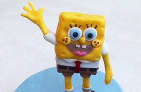 Modelado de Bob Esponja paso a paso con fondant y pasta de goma