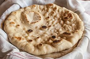 Receta de pan plano en sartén