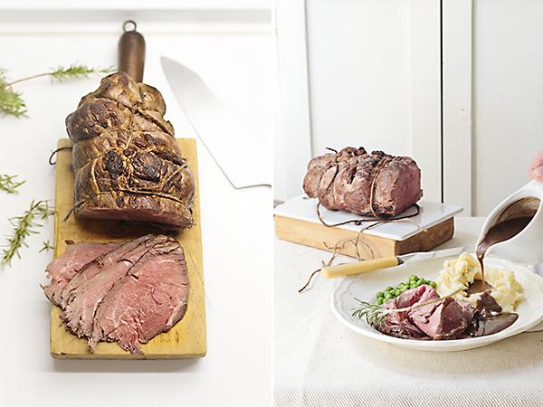 cortamos la carne y servimos