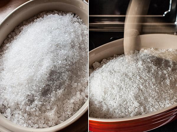 como hacer pescado a la sal