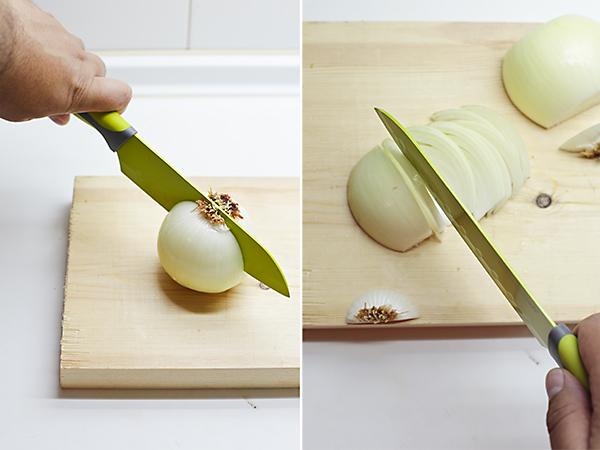 cortamos la cebolla en juliana