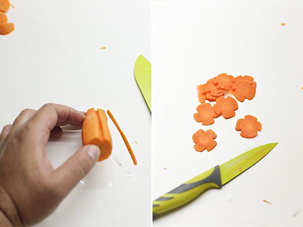 corte de flores de zanahoria