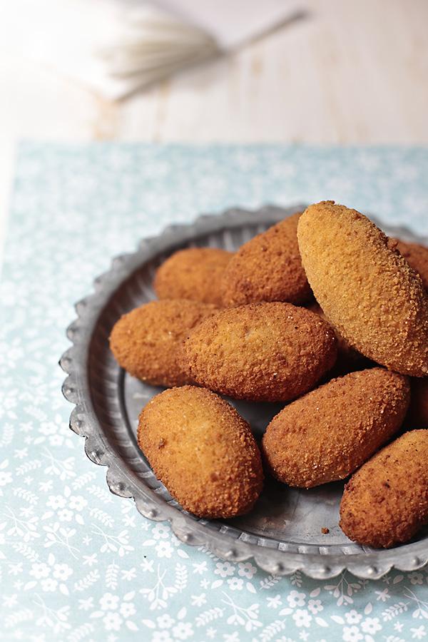 receta de salsa bechamel y croquetas de gambas y chipirones
