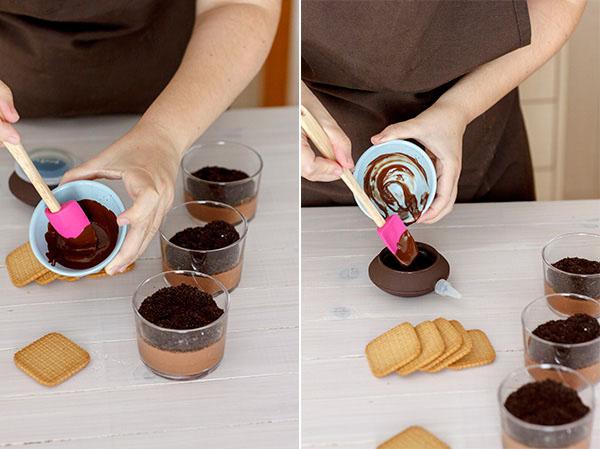Tumbas de chocolate Paso 6
