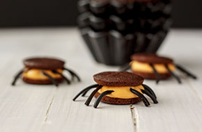 Whoopie pie araña para Halloween