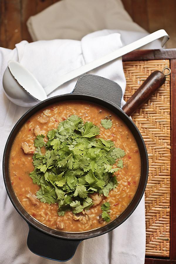 arroz de tamboril con chipirones