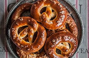 Receta de pretzels o bretzels