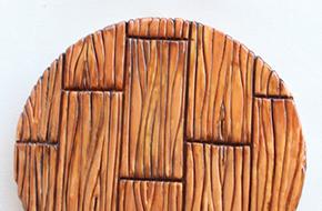 Cómo hacer una textura de madera con fondant
