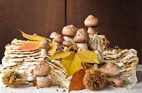 Un Bûche de Nöel diferente: tronco helado de chocolate y castañas