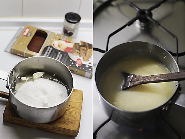 mezclamos los ingredientes del toffee
