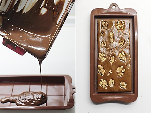 cubrimos el fondo de chocolate