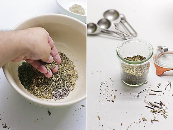 hacemos la mezcla de hierbas