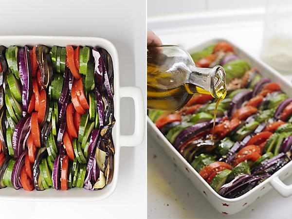 colocamos las verduras en el molde