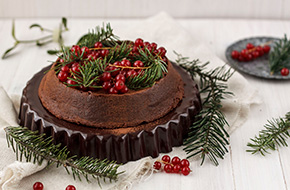 Tarta de chocolate sin gluten. Receta navideña