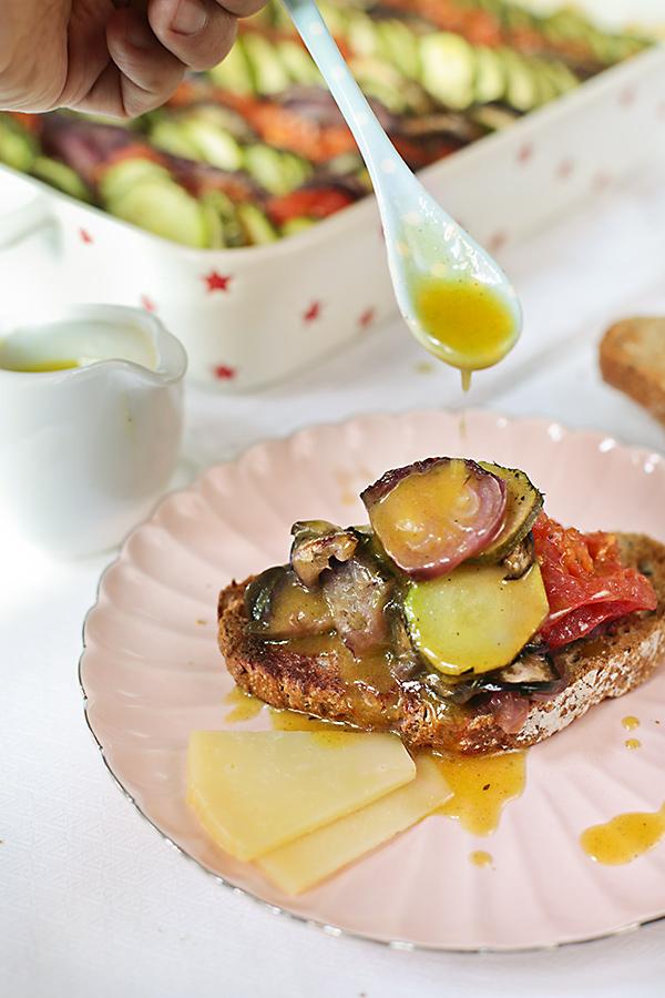 tosta de verduras a la provenzal