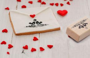 Galletas carta para San Valentín