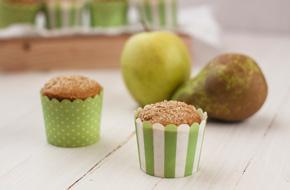Muffins integrales con frutas
