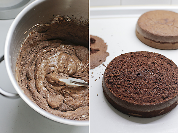 hacemos la genovesa de chocolate