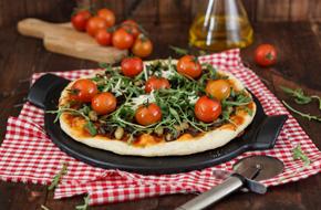 Pizza de verduras a la piedra