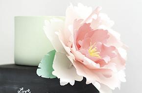 Cómo hacer una peonia con papel de oblea