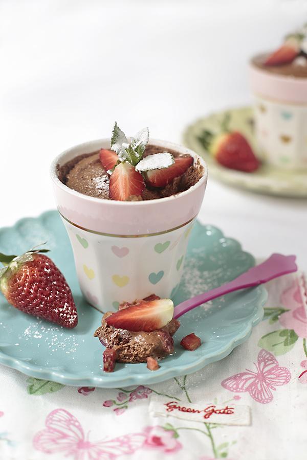 mousse de chocolate y fresas 2