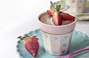 Receta de mousse de chocolate con fresas