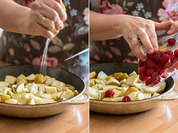 cobbler de frutas rojas
