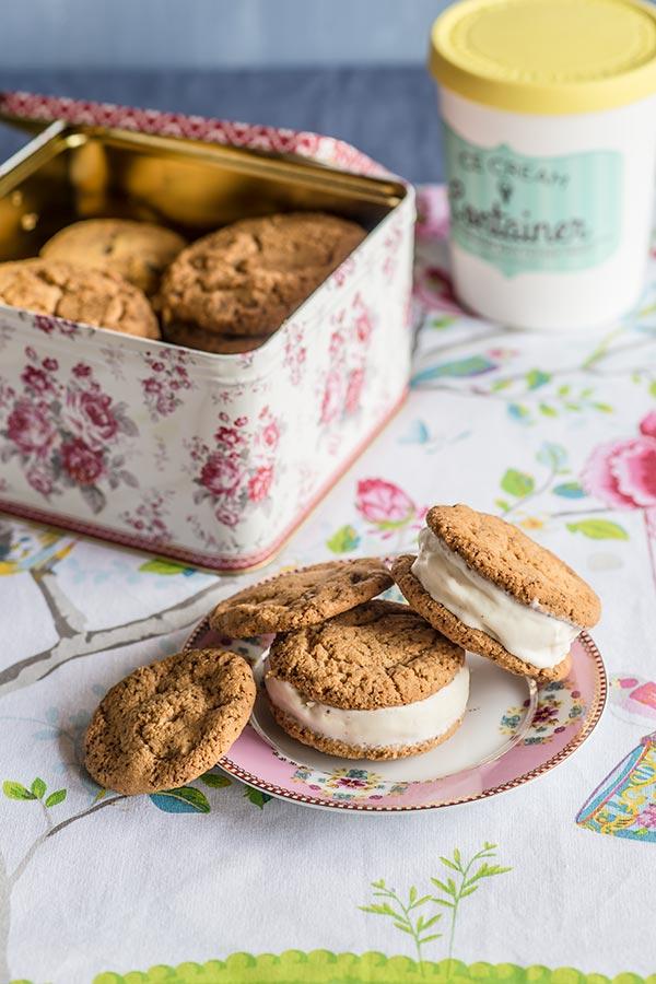 galletas para sandwich helado