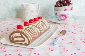Vídeo-receta: brazo de gitano de chocolate y cerezas