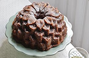 Bundt cake de mantequilla y frambuesa