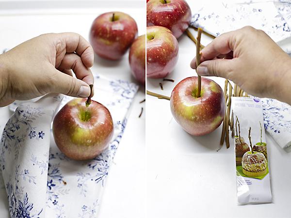 lavamos y preparamos las manzanas