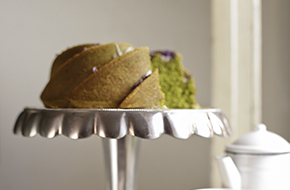 Receta de bundt cake de té Matcha