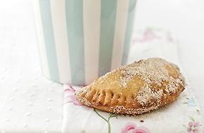 Receta de empanadillas fritas de manzana y moras